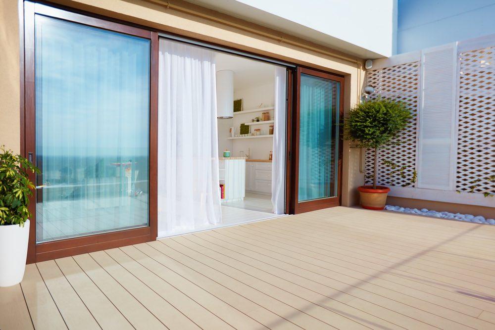 sliding doors to patio